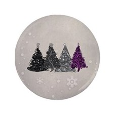 """Asexual Christmas Trees 3.5"""" Button (100 pack)"""
