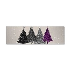 Asexual Christmas Trees Car Magnet 10 x 3