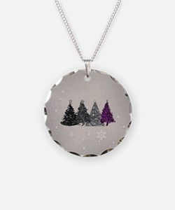 Asexual Christmas Trees Necklace