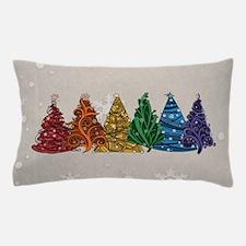 Rainbow Christmas Trees Pillow Case