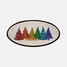 Rainbow Christmas Trees Patches