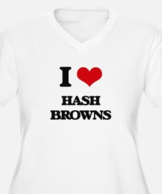 I Love Hash Browns Plus Size T-Shirt