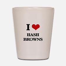 I Love Hash Browns Shot Glass