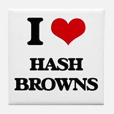 I Love Hash Browns Tile Coaster