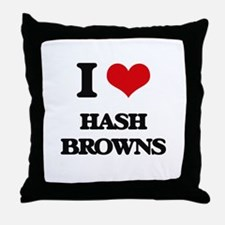 I Love Hash Browns Throw Pillow