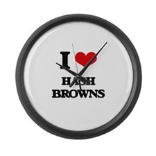 I Love Hash Browns Large Wall Clock