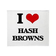 I Love Hash Browns Throw Blanket