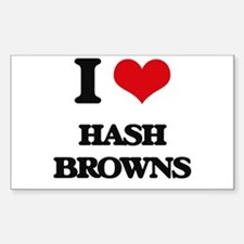 I Love Hash Browns Decal
