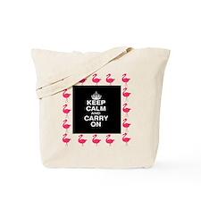 Keep Calm Pink Flamingoes Tote Bag