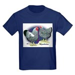 Silver Wyandotte Chickens Kids Dark T-Shirt