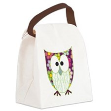 Floral Patchwork Owl Canvas Lunch Bag