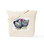 Silver Wyandotte Chickens Tote Bag