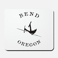 Bend Oregon Funny Falling Skier Mousepad