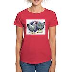 Silver Wyandotte Chickens Women's Dark T-Shirt