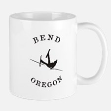 Bend Oregon Funny Falling Skier Mugs