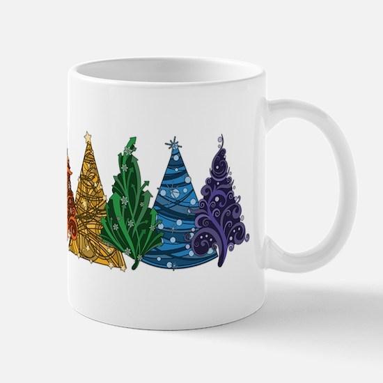 Rainbow Christmas Trees Mugs