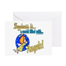 Happiness is an Angel Greeting Cards (Pk of 10