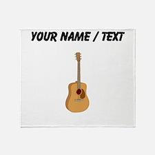 Custom Acoustic Guitar Throw Blanket