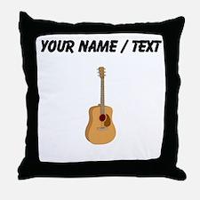 Custom Acoustic Guitar Throw Pillow