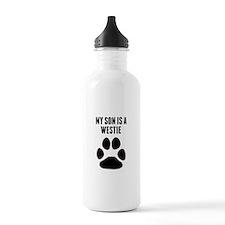My Son Is A Westie Water Bottle