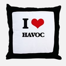 I Love Havoc Throw Pillow