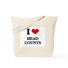 I Love Head Counts Tote Bag