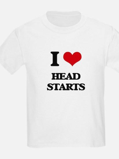 I Love Head Starts T-Shirt