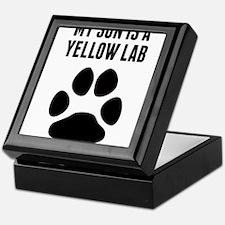 My Son Is A Yellow Lab Keepsake Box