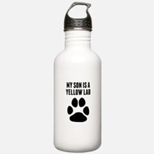 My Son Is A Yellow Lab Water Bottle