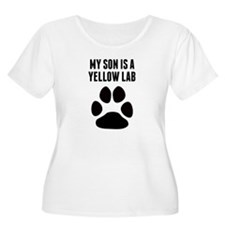 My Son Is A Yellow Lab Plus Size T-Shirt