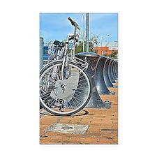 Bikes & Bollards Rectangle Car Magnet
