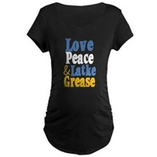 Love Peace & Latke Grease Maternity T-Shirt