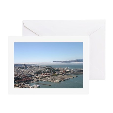 aerial san francisco photo Greeting Cards (6)