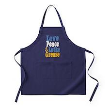 Love Peace & Latke Grease Apron (dark)