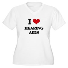 I Love Hearing Aids Plus Size T-Shirt
