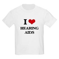 I Love Hearing Aids T-Shirt
