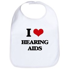I Love Hearing Aids Bib
