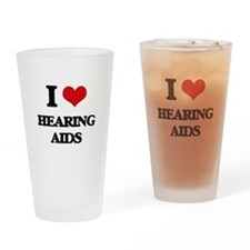 I Love Hearing Aids Drinking Glass
