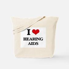 I Love Hearing Aids Tote Bag