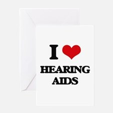 I Love Hearing Aids Greeting Cards