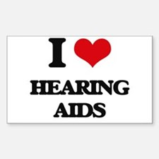 I Love Hearing Aids Decal