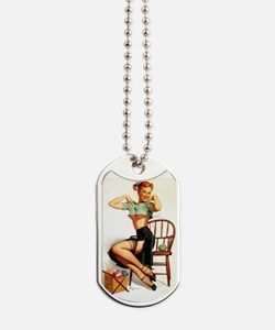 Sexy Pinup Girl Dog Tags