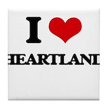 I Love Heartland Tile Coaster