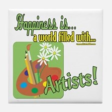 Happiness is an Artist Tile Coaster