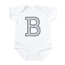 Monogram Initial B - Baby Onesie Body Suit
