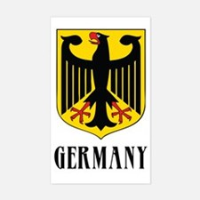 German Coat of Arms Rectangle Decal