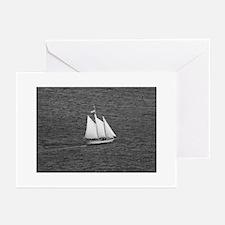 black + white sailing photos Greeting Cards (6)