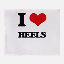I Love Heels Throw Blanket