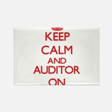 Keep Calm and Auditor ON Magnets