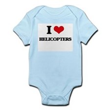 I Love Helicopters Body Suit